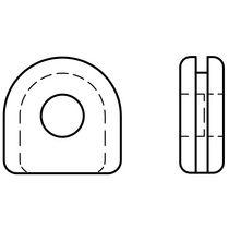 Passe-câble en caoutchouc / ouvert / en U