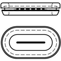 Passe-câble en caoutchouc / ouvert / pour trou oblong