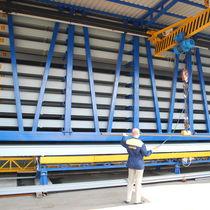 Système de stockage vertical / pour barres en fer