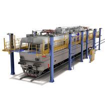 Plate-forme de travail / pour véhicule ferroviaire / longue portée