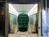 Cabine de peinture pour application ferroviaire