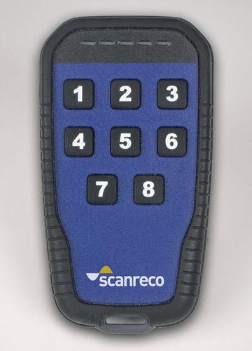 télécommande radio / à 8 boutons / compacte / IP65