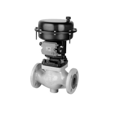 vanne de régulation / à soupape / pneumatique / pour gaz