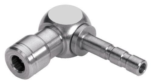 raccord push-in / cannelé / coudé à 90° / pneumatique
