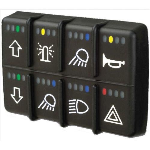 interrupteur pour véhicules / à bascule / multipolaire / électromécanique
