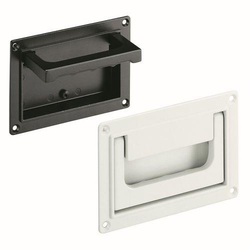 poignée rabattable / pour porte / en aluminium