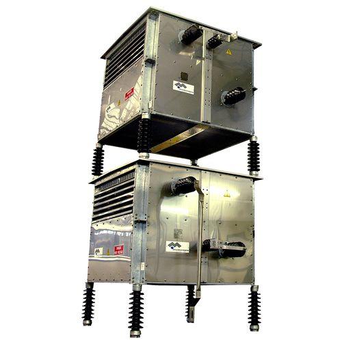 résistance à boîtier en acier inoxydable / sur pied / pour courant fort / de filtrage