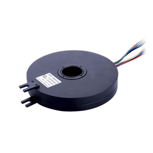 collecteur tournant avec passage au centre / plat / en plastique / PCB