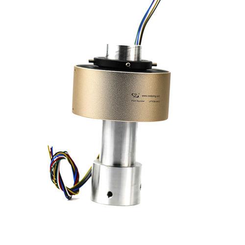 Collecteur tournant pneumatique / gaz / à axe creux through bore slip ring transmit  gas / liquid JINPAT Electronics Co., Ltd.