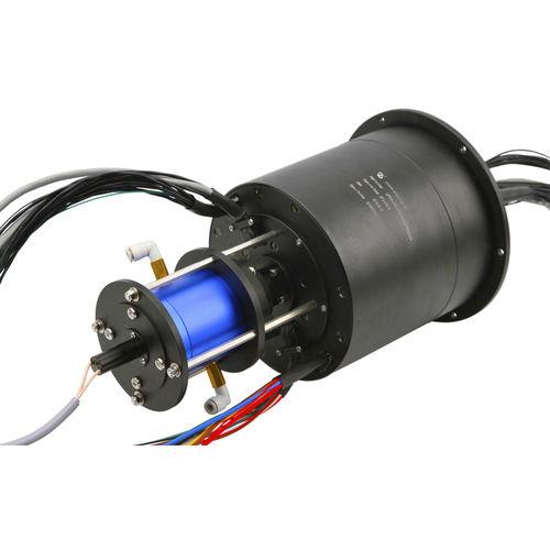 collecteur tournant électro-optique / via Ethernet / HDMI / arbre traversant