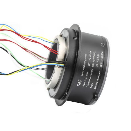 collecteur tournant électrique / à axe creux / en aluminium / modulaire
