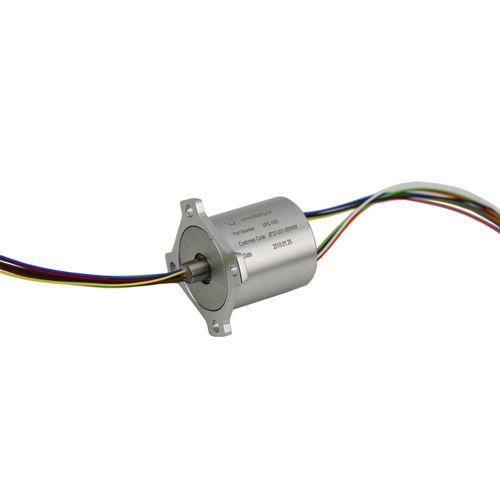 collecteur tournant électrique / à capsule / pour équipement médical / en aluminium