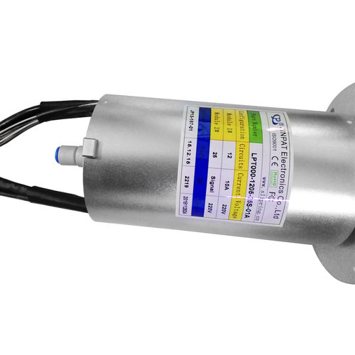 collecteur tournant à arbre plein / pour applications industrielles / en aluminium anodisé / IP54