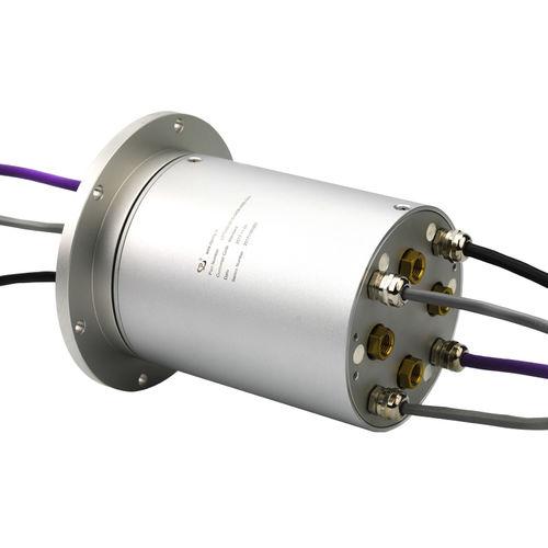 collecteur tournant électropneumatique / à arbre plein / pour applications industrielles / en aluminium anodisé