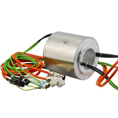 collecteur tournant arbre traversant / pour applications industrielles / en inox / IP65