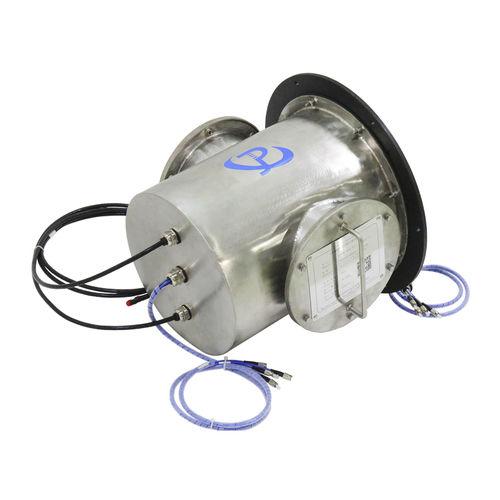 collecteur tournant électro-optique / pour applications marines / en inox / IP65