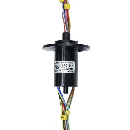 Collecteur tournant électrique / pour caméra infrarouge / pour applications de vidéosurveillance / immunisé contre le bruit LPC-24A JINPAT Electronics Co., Ltd.