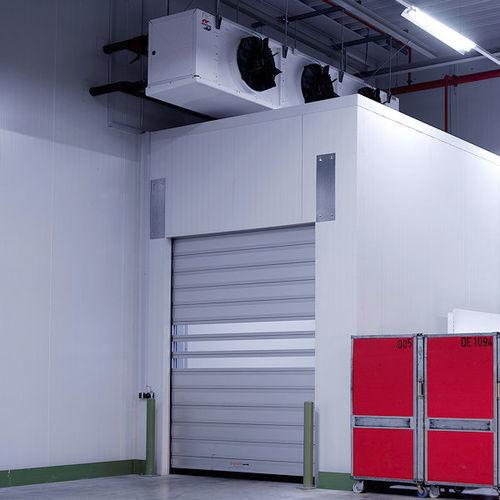 porte à enroulement / pour chambre froide / industrielle / isolée