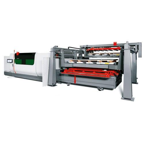 Système de chargement et déchargement automatique ByTrans Cross Bystronic Laser