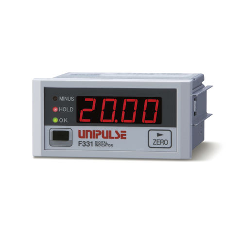 Indicateur de charge / numérique / sur rail DIN / pour jauge de contrainte F331 UNIPULSE Corporation