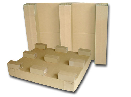 palette en carton ondulé