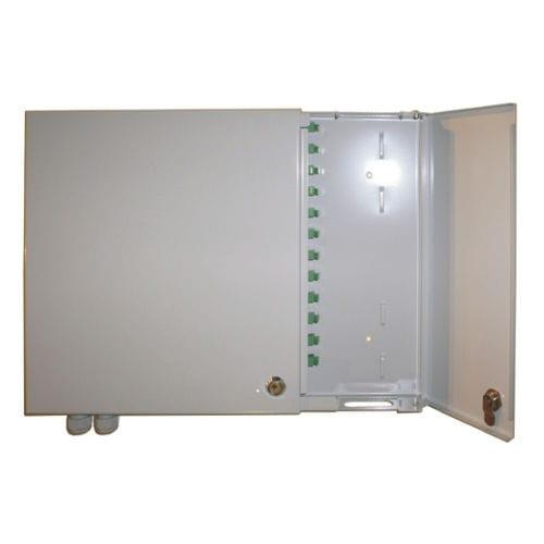 boîte de distribution / murale / rectangulaire / en acier