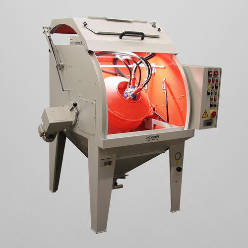 cabine de sablage à pression / manuelle / avec table tournante