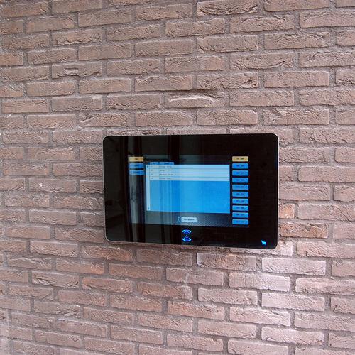interphone vidéo / d'extérieur / noir / à écran couleur