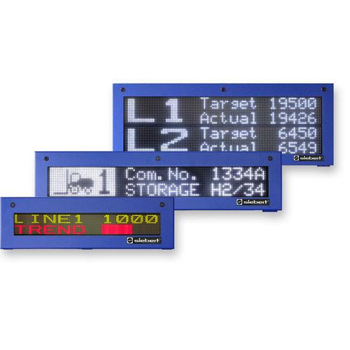afficheur à LED / alphanumérique / à matrice de points / numérique