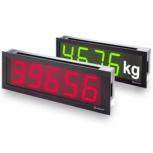 afficheur à LED / numérique / compact / ultramince
