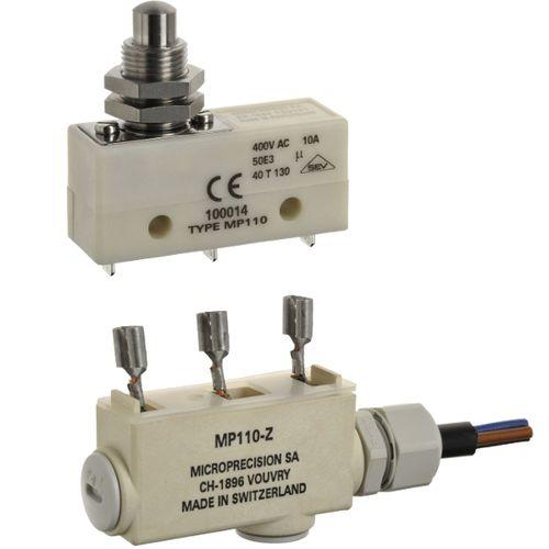 Micro-rupteur à levier / unipolaire / en PBT / électromécanique MP110 series Microprecision Electronics