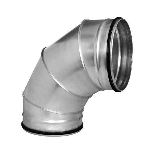 Raccord à emboîtement / coudé / hydraulique / en aluminium BS / BSL series ALNOR Ventilation Systems