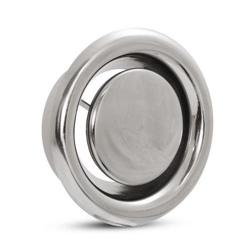 vanne à disque / pour air / en inox / basse pression