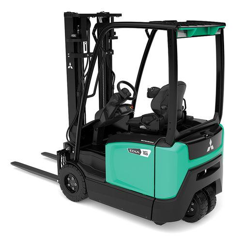 chariot élévateur électrique / à conducteur porté assis / pour entrepôts / de manutention