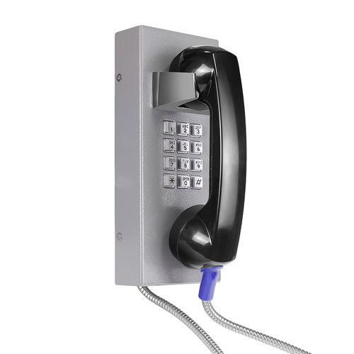 téléphone analogique / IP54 / pour applications ferroviaires / en acier inoxydable
