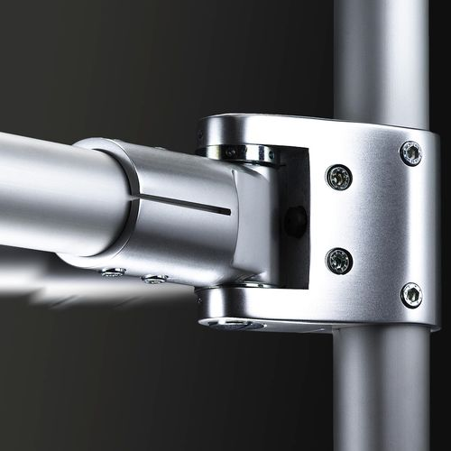 connecteur de tube rond / en aluminium / appui pendulaire