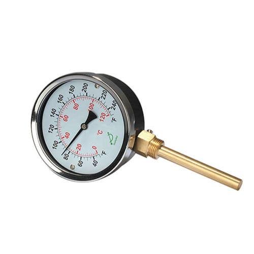 thermomètre pour eau chaude / bimétallique / analogique / à visser