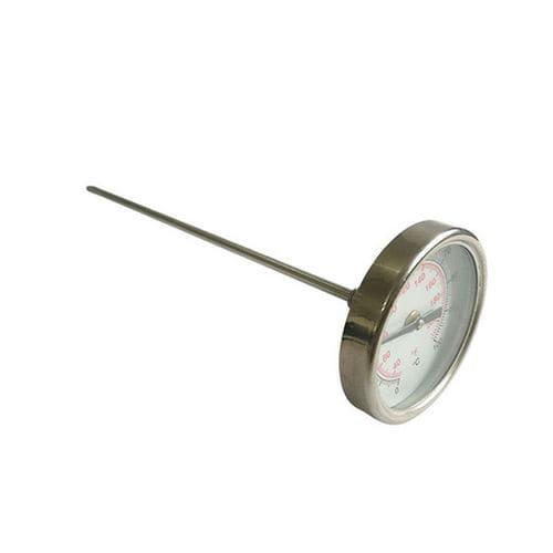 thermomètre bimétallique / à cadran / de poche / à visser