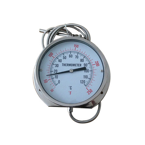 thermomètre à dilatation de gaz à capillaire / analogique / à insertion / en acier inoxydable