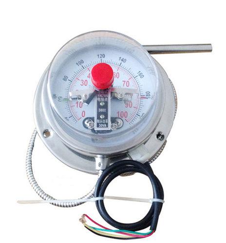 thermomètre à dilatation de gaz à capillaire / bimétallique / analogique / à insertion