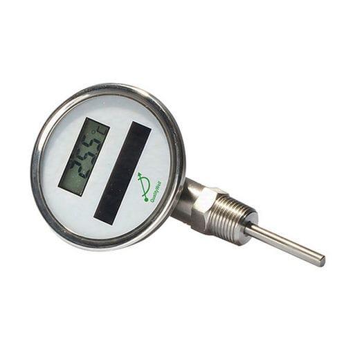 thermomètre à sonde / à affichage numérique / à visser / en acier inoxydable