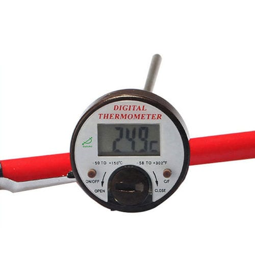 thermomètre à sonde / à affichage numérique / à insertion / en acier inoxydable