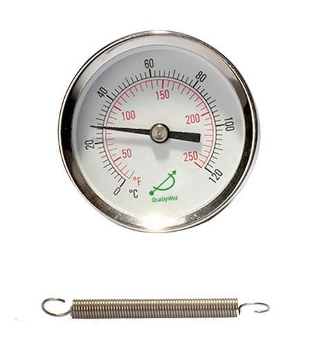 thermomètre bimétallique / analogique / pour montage en surface / en acier inoxydable