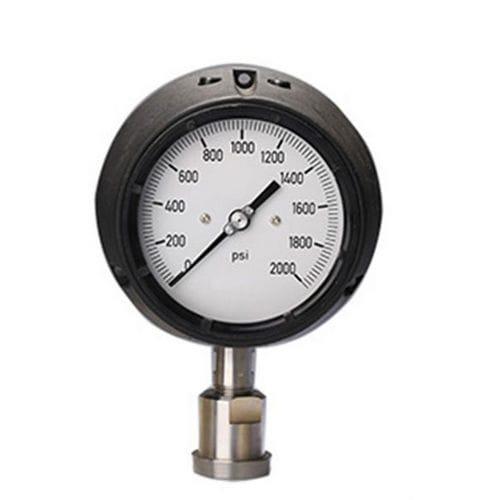 manomètre à cadran / à tube de Bourdon à liquide / pour huile / pour applications marines