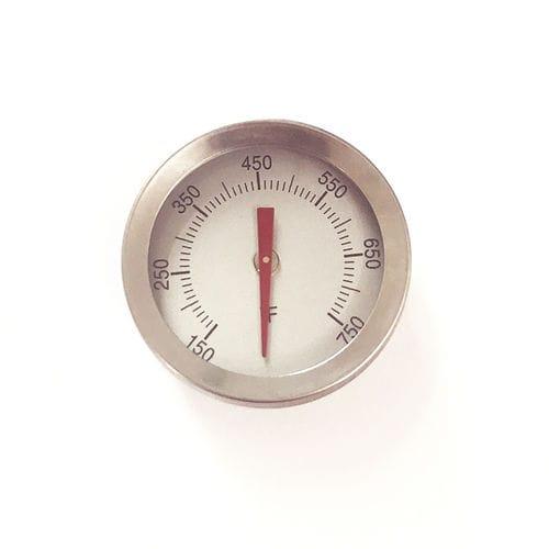 thermomètre bimétallique / à aiguille / à insertion / en acier inoxydable