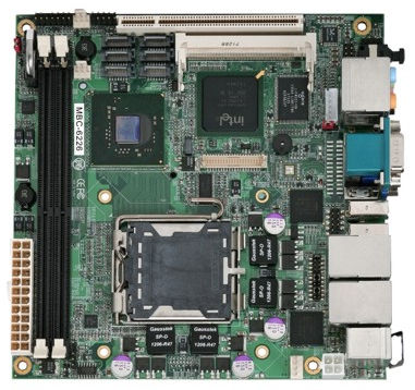 Carte mère mini-ITX / Intel® Core 2 Quad / Intel 945G / DDR2 SDRAM MBC-6226 AICSYS Inc