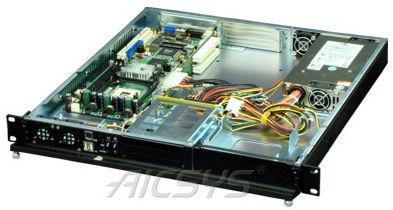 Châssis pc rackable / 1U / de fond de panier / pour carte mère mini-ITX RCK-104BA AICSYS Inc