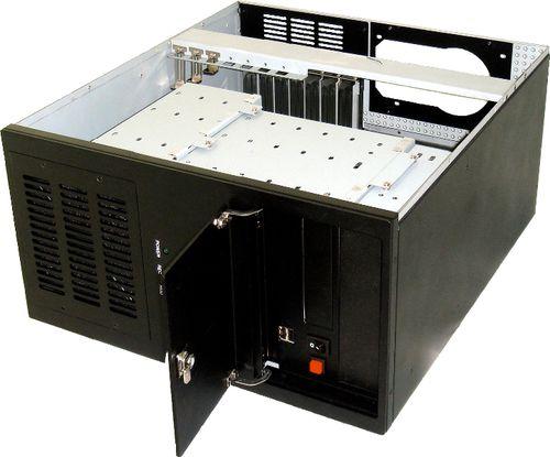 châssis à 10 baies de disques / rackable / DVR / pour carte mère ATX