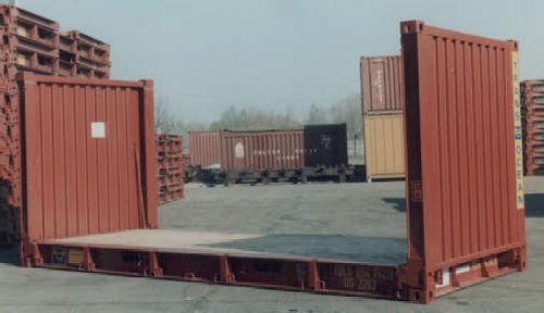 container en métal / de transport / flat rack