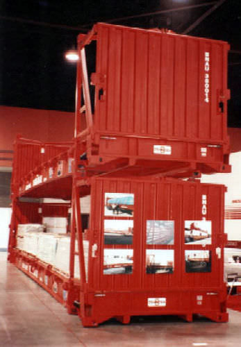 container en acier / de transport / flat rack